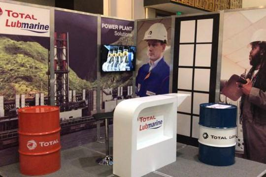 Total Lubmarine showcasing lubricants for the power plant sector