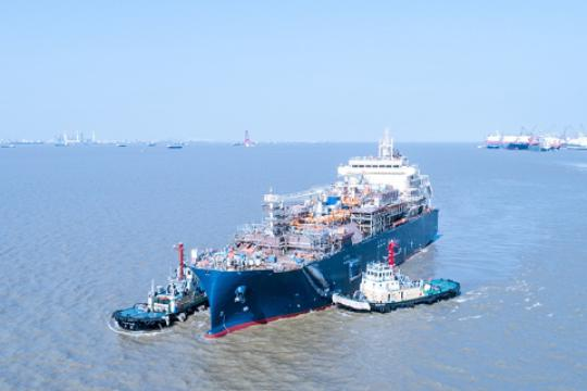 First Total LNG Bunker Vessel Launched