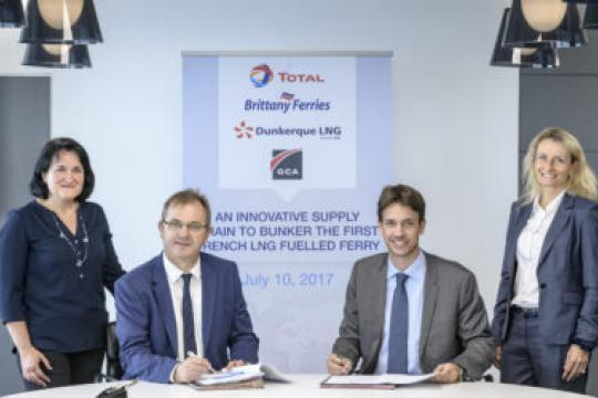 Total and Brittany Ferries ink agreement on LNG bunkering supply
