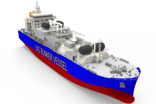 Total and Mitsui O.S.K. Lines Charter the 1st LNG Bunker Vessel to Operate in France