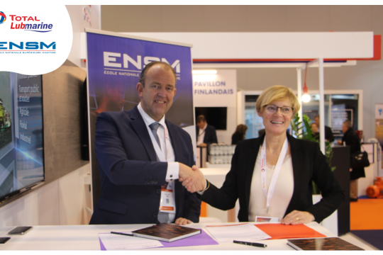2020 training programme agreement between Total Lubmarine and ENSM