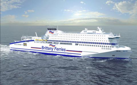 Total Lubmarine and Total Marine Fuels Global Solution to supply new Brittany Ferries vessel Honfleur