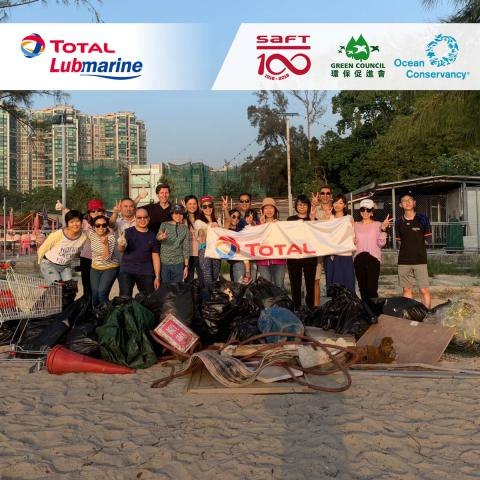 Total Lubmarine and partners support Hong Kong beach clean-up