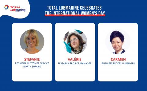 Total Lubmarine celebrates the International Women's Day