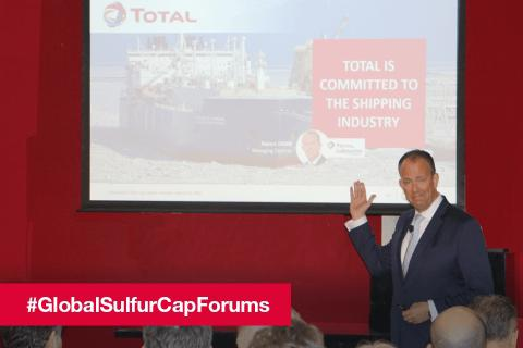 Global Sulfur Cap Forum in London - Robert Joore, General Manager of Total Lubmarine