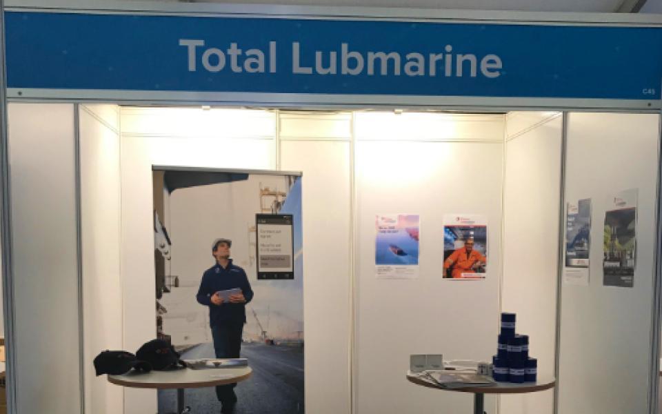 Total lubmarine exhibition stand C45 at DSM
