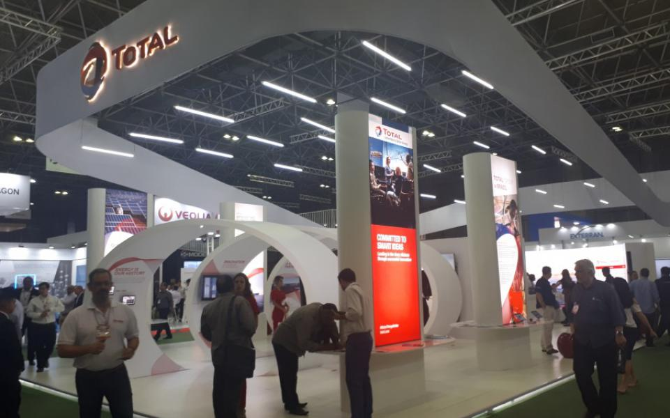 RIO Oil and Gas 2018 - Total Lubmarine Booth - day1