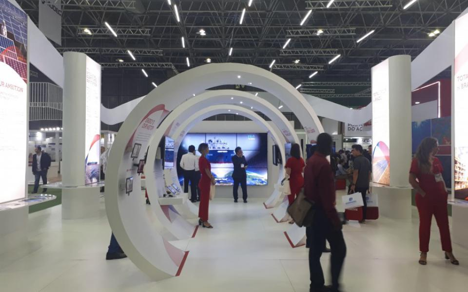 RIO Oil and Gas 2018 - Total Lubmarine Booth - day2
